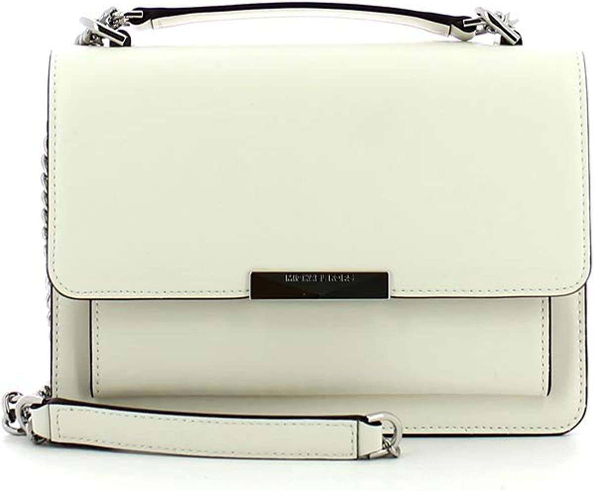 Borsa a tracolla Jade Large in pelle Michael Michael Kors Optic White