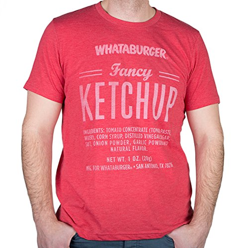 Whataburger Mens Fancy Ketchup T-shirt (X-Large, Heather Red)- FREE SHIPPING DIRECT FROM - From Shipping Free
