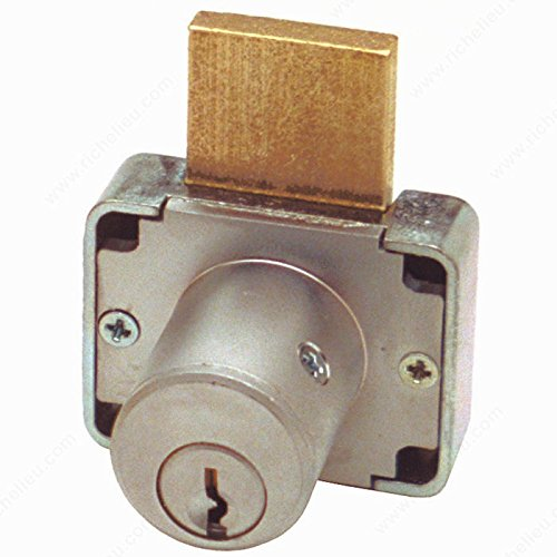 Deadbolt Drawer Lock 7/8 and 1-3/8, Cylinder Length 7/8 in, Key Type Keyed Alike #103, Panel Thickness Max. 7/8 in