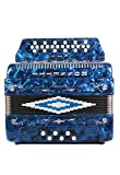Rossetti 34 Button Accordion 12 Bass 3 Switches GCF Blue