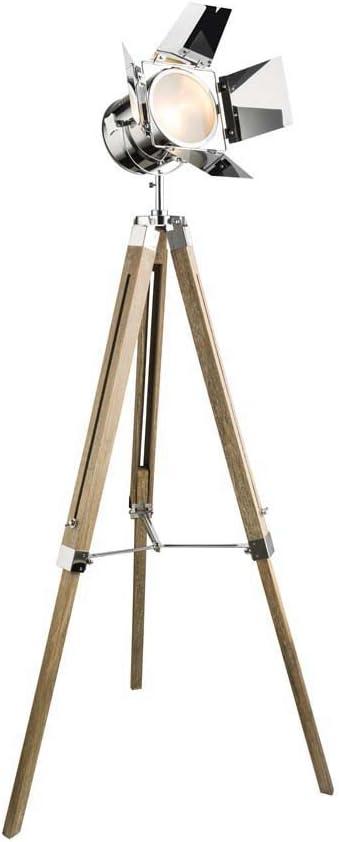 Elegante lámpara de pie tipo foco de proyección con trípode: Amazon.es: Iluminación