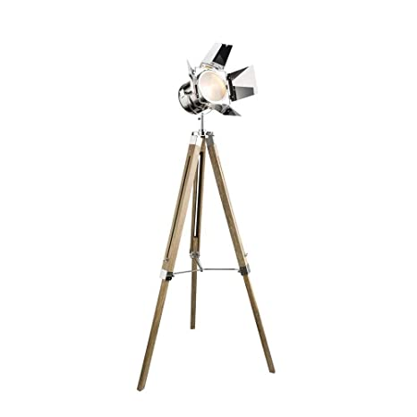 Elegante lámpara de pie tipo foco de proyección con trípode ...
