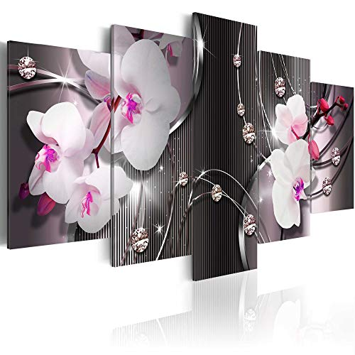 Canvas Art Design Orchid Canvas Wall Art Print for Home Office Decoration Abstract White Flower Floral Painting Picture Photo Stretched Framed Ready to Hang