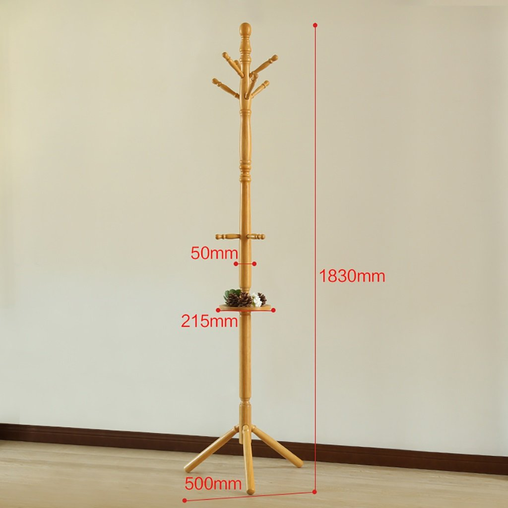 A Coat Rack Solid Wood Floor Hanger Bedroom Coat Hanger Modern Minimalist Creative Clothes Rack (color   A)