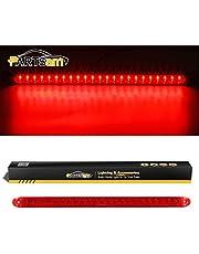 "Partsam 1PC Red 17"" 23 LED Light Bar Stop Turn Tail 3rd Brake Light Car Truck Trailer RV Bus Boat Clearance Identification ID Bar Waterproof"