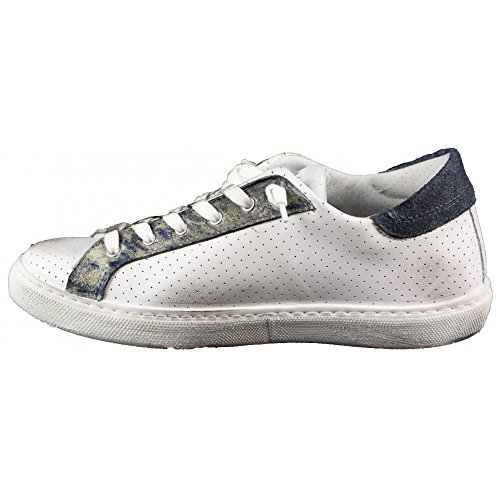 2 Star Herren Sneaker Weiß Bianco