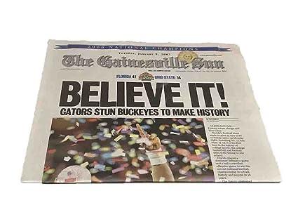 Florida Gators Gainesville Sun National Champions Newspaper January 9, 2007