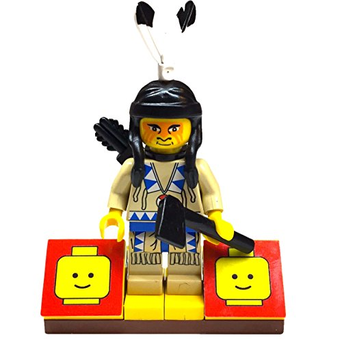 MinifigurePacks: Lego Western - Raindance Ridge Indian Bundle (1) Indian Brave - Ahiga (He Fights) Figure (1) Figure Display Base (2) Figure Accessory's (Axe & Quiver) (Lego Tribal Chief)