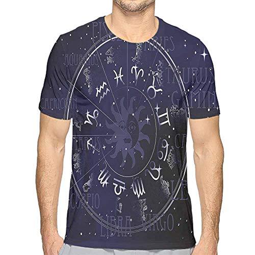 Comfort Colors t Shirt Astrology,Zodiac Circle Wheel t Shirt L ()