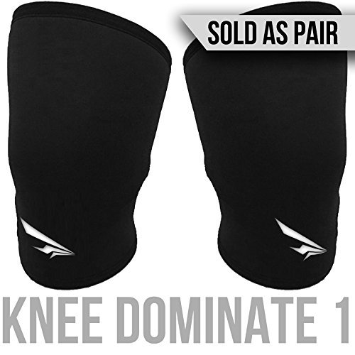 2nd Era Knee Dominate 2 - Best Premium Neoprene Double Seem Compression Knee Support Sleeves Brace Wraps - For Elite Athletes: Powerlifting, Bodybuilding, and Weight Lifting - Sold as Pair