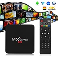 [2017 Version] MXQ Pro 4K Android 6.0 S905X Quad Core Full HD Latest KD Player 17.4 Installed