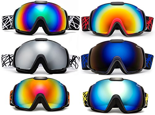 Cloud 9 Professional Adult Snow Goggles Wildcat Anti-Fog Dual Lens Wide Angle (Wildcat Ski)