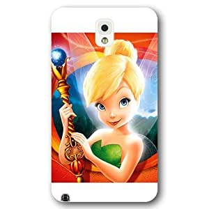 UniqueBox Customized Disney Series Phone Case for Samsung Galaxy Note 3, Lovely Cartoon Tinker Bell Samsung Galaxy Note 3 Case, Only Fit for Samsung Galaxy Note 3 (White Frosted Shell)