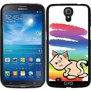 Funda para Samsung Galaxy Mega 6.3 GT-I9205 - Hr Arco Iris Del Gato by Cadellin