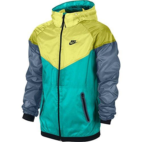 Nike Sporstwear Hyperfuse Windrunner Men's Jacket Blue/Venom Green 585109-303 (Size L)