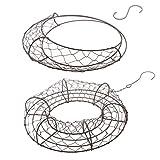Baoblaze 2pcs Garden Wall Metal Iron Ring Frame Wire Wreath Metal Planter Craft DIY