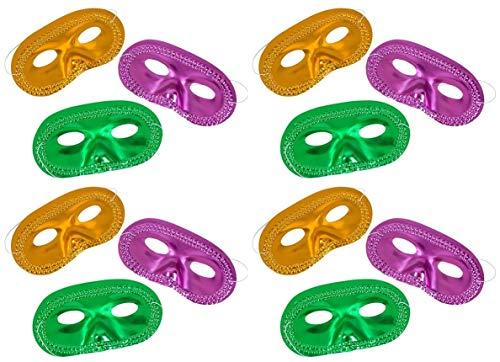 HAPPY DEALS ~ Mardi Gras Masks - Bulk Party Pack Set of 48 (48 pc Classic) ()