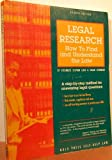 Legal Research, Stephen R. Elias and Susan Levinkind, 0873373014