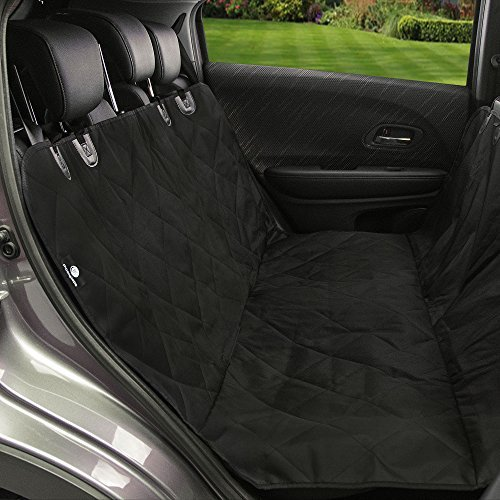 Pet Car Seat Cover for Cars, Moonsteps Waterproof Dog Hammock Seat Cover for Dogs, Cars Trucks Suv's & Vehicles, NonSlip Backing – Black Review