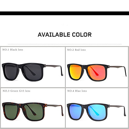 LBY de Color C3 Gafas Metal De Polarized Driver Bright C2 True Gafas Sunglasses Hombre Cuadradas Sol Gafas Sol De para rHxzfwTqrO