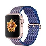 APPLE(アップル) Apple Watch Sport 42mmローズゴールドアルミニウムケースとロイヤルブルーウーブンナイロン