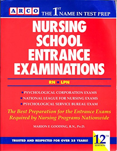 Nursing School Entrance Examinations/Rn Lpn (Peterson's Master the Nursing School & Allied Health Programs Entrances Exams)