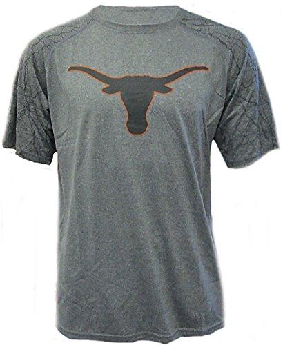 289c Texas Longhorns Mens Charcoal Hillsdale Poly Short Sleeve Shirt (Small) ()