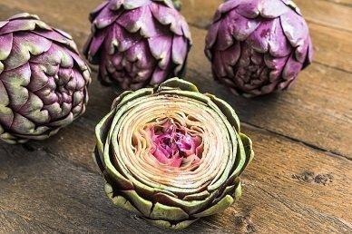 David's Garden Seeds Artichoke Violet de Provence G6091OP (Purple) 50 Heirloom Seeds