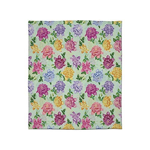 - YOLIYANA Warm Flannel Blanket,Dahlia Flower Decor,for Folding Bed Crib, Stroller, Travel, Couch and Bed,Size Throw/Twin/Queen/King,Vibrant Victorian Renaissance Medieval Motifs Retro Ombre
