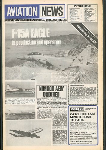 F-15A Eagle in Ops Sabreliner Aviation News 1977 - F-15a Eagle