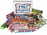 1967 50th Birthday Gift Basket Box of Retro Candy From Childhood Jr