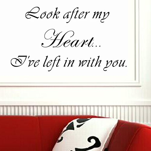 Look After My Heart Pop Decors WL-0052-Va Inspirational Quote Wall Decal