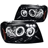 Spec-D Tuning 2LHP-GKEE99G-TM Jeep Grand Cherokee Glossy Black Projector Head Lights