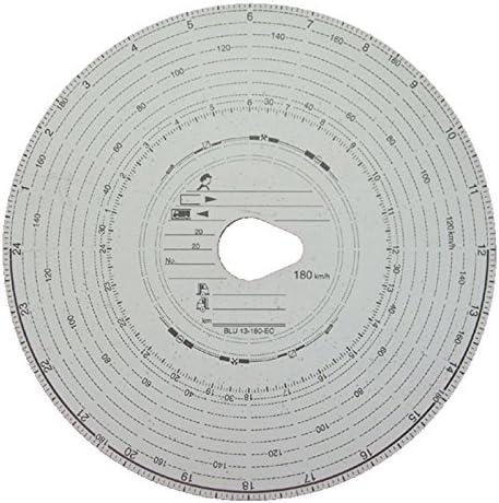 10 Packungen Tachoscheiben Diagrammscheiben bis 180 km/h Tachoblatt Kontrollscheiben 180-24 Fahrtenschreiberscheiben Tachographen