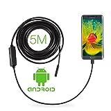 GBB Android OTG Endoscope, 8.5mm 2Million Pixels 5 Meter USB Waterproof HD 6