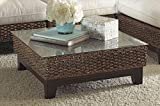 Panama Jack Sunrooms Sanibel Coffee Table with Glass,