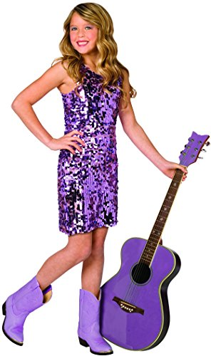 Big Girls' Sequin Diva Dress Costume Small (4-6) by Loftus International