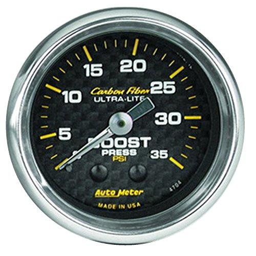 Auto Meter 4704 Carbon Fiber Mechanical Boost Gauge ()