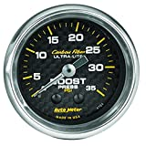 "Auto Meter 4704 Carbon Fiber 2-1/16"" 0-35 PSI Mechanical Boost Gauge"
