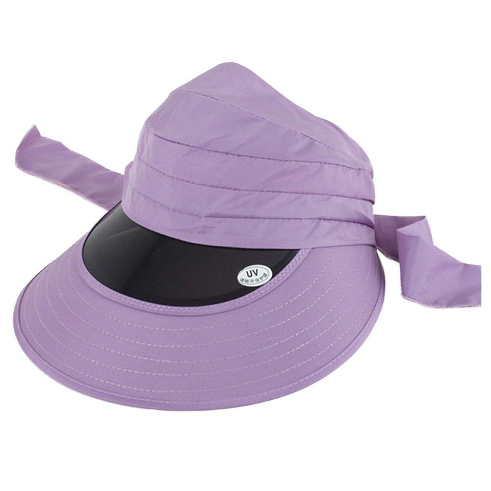 Ladies Large Brimmed UV Sun Protection Hat Sun Hat, Light Purple