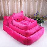 Heated Dog Bed - BigBig Home Short Plush Keep Warm Cartoon Appearance Hypoallergenic Rectangular Dogs&Cats Bed(4 Colors and 3 Sizes)