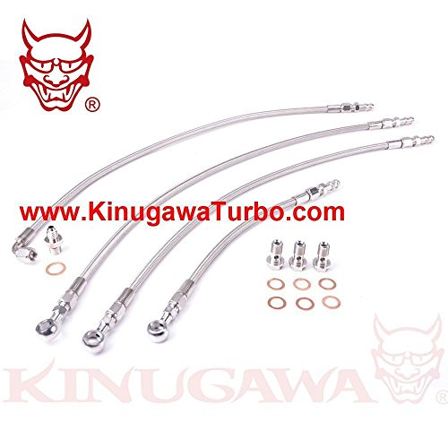 (Turbo Water Line Kit 6G72T For Mitsubishi 3000GT VR4 / Dodge Stealth Twin TD04)