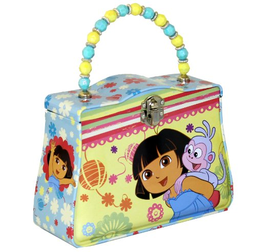 - Nickelodeon The Tin Box Company 460107-12 Dora the Explorer Carry All Tin Purse- Assorted