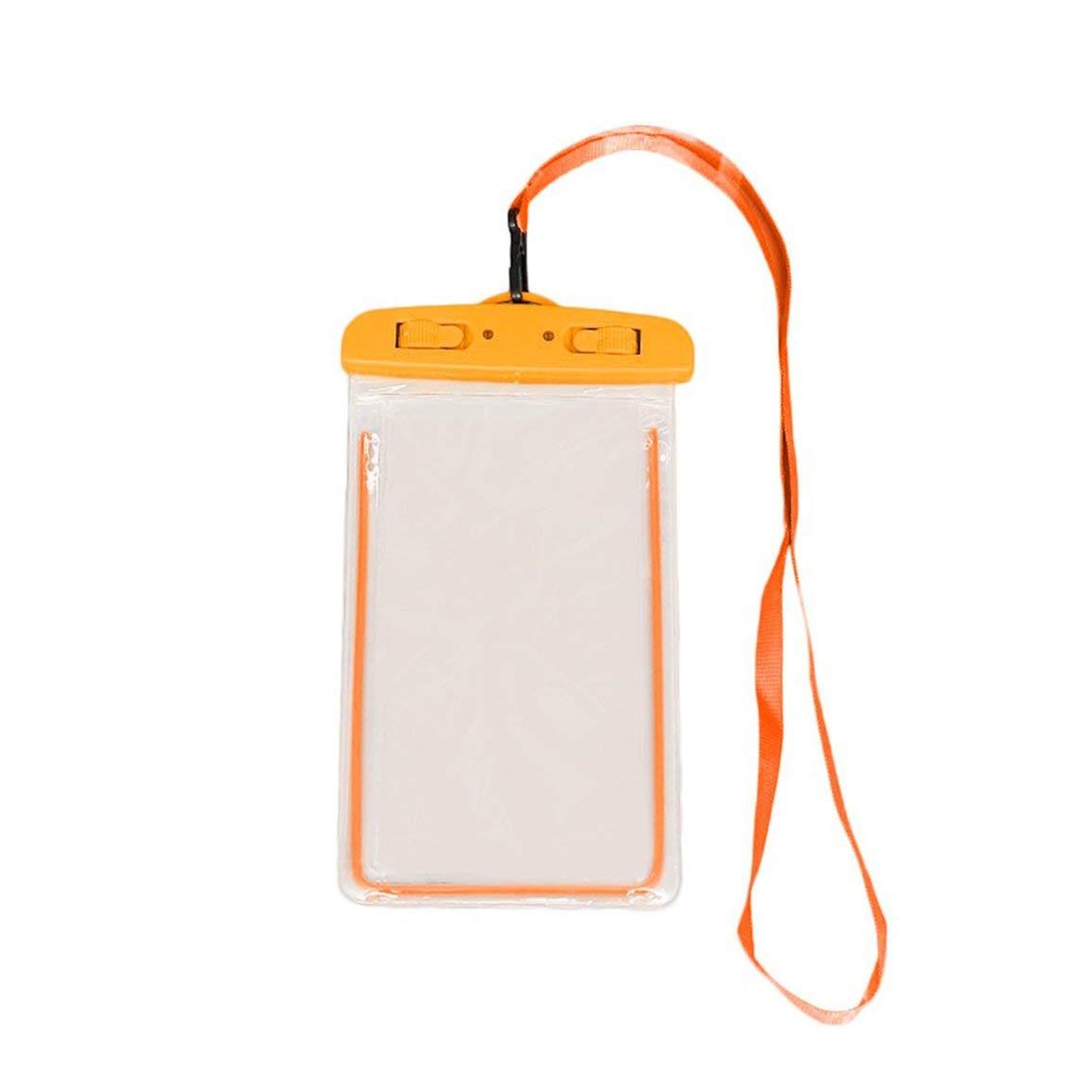 Bolsa de nataci/ón Impermeable de PVC Cubierta de la Caja del tel/éfono m/óvil Bolsa Seca Buceo Universal Derivaci/ón Riving Bolsas de Trekking Color: Naranja PVC