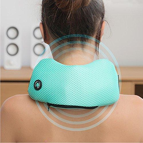 Esclusivo cuscino massaggiante per il tuo relax quotidiano braccia e schiena spalle gambe cervicale massaggiatore a vibrazione portatile senza fili collo Idoneo per dolori cervicali