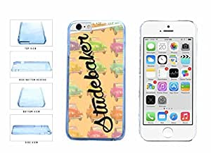 Retro Vintage Old School Car Pattern Clear Plastic Phone Case Back Cover Apple iphone 6 4.7 ( es screen) includes fashion case Cloth and Warranty Label