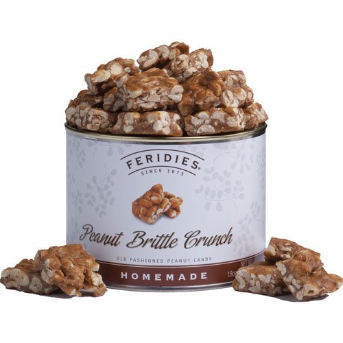 18oz Can Peanut Brittle Crunch Peanut Brittle Tin