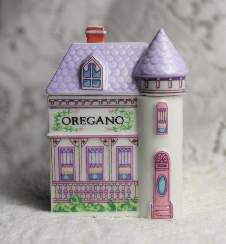(Lenox 'Spice Village' Porcelain Victorian House Spice Jar - Oregano)