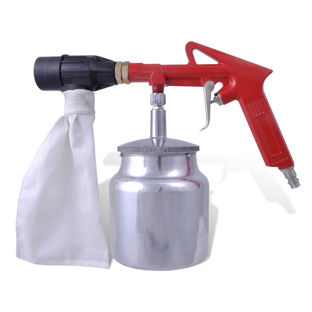 Festnight Air Sand Blasting Kit with 4 Nozzles Storage Container