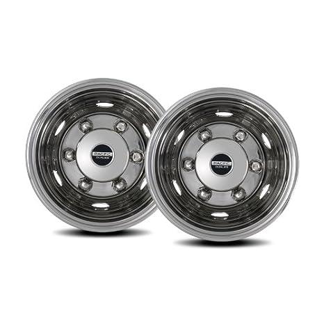 Earlier  Isuzu Chevy GMC FRR//NPR//NQR//FSR//W4//W4500//W6500 Pacific Dualies 45-2960 19.5 Stainless Steel Wheel Simulator Front Tag-Axle Kit for2014